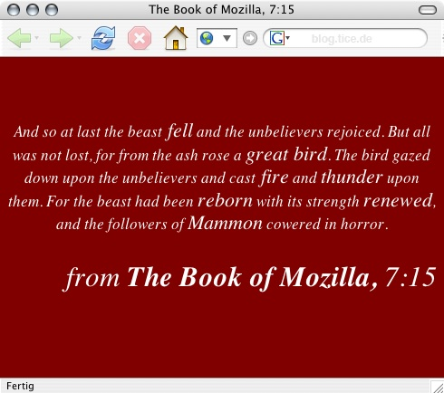 Firefox about: mozilla<br>(Foto: 001)