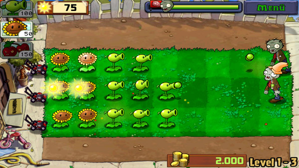 Android App Plants vs. Zombies