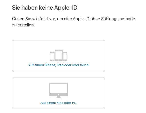 ohne apple id