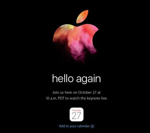 Hello again 2016 Apple Event
