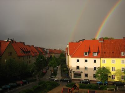 Regenbogen in Hamburg